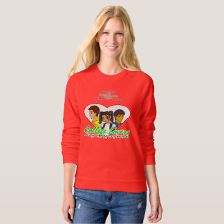 CL American Apparel Raglan Sweatshirt, Red Sweatshirt