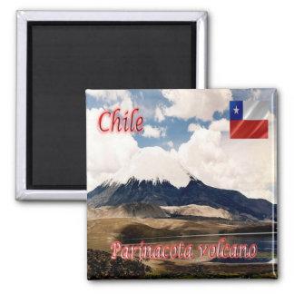 CL - Chile - Parinacota Volcano Square Magnet