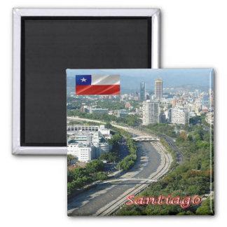 CL - Chile - Santiago - Rio Mapocho Square Magnet