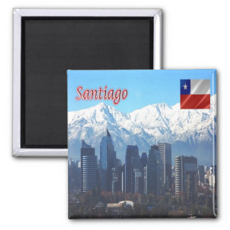 CL - Chile - Santiago Skyline Magnet
