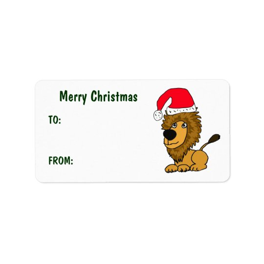 CL- Funny Lion Christmas Gift Tags