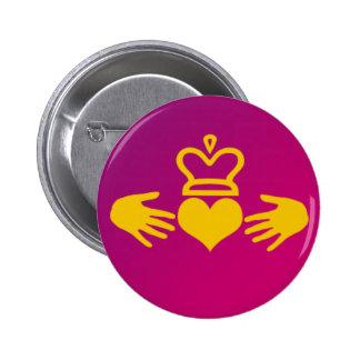 Claddagh 2 Inch Round Button
