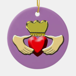 Claddagh Ceramic Ornament