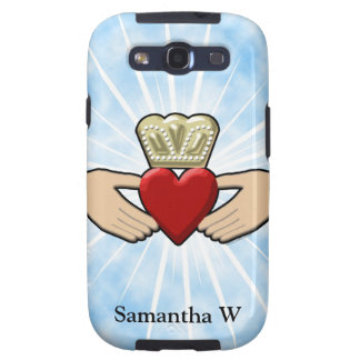 Claddagh Graphic with Red Heart Samsung Galaxy S3 Cases
