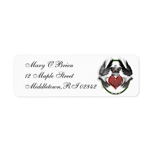 claddagh heart return address label