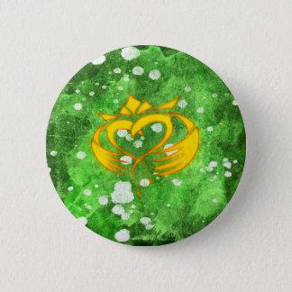 Claddagh Irish Celtic Splatter 2 Inch Round Button