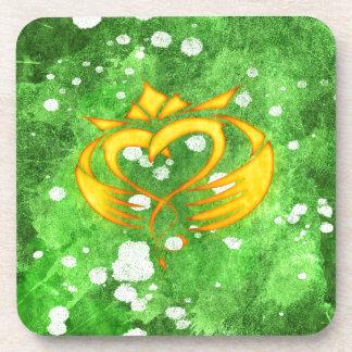 Claddagh Irish Celtic Splatter Coaster