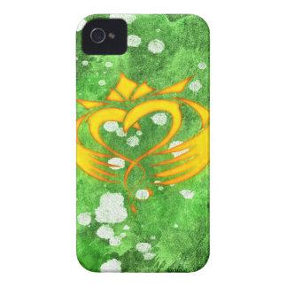Claddagh Irish Celtic Splatter iPhone 4 Case