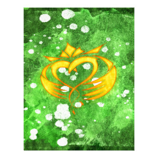 Claddagh Irish Celtic Splatter Letterhead