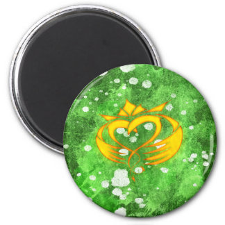 Claddagh Irish Celtic Splatter Magnet