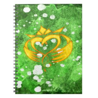 Claddagh Irish Celtic Splatter Notebook