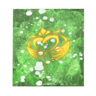 Claddagh Irish Celtic Splatter Notepad