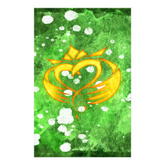 Claddagh Irish Celtic Splatter Stationery