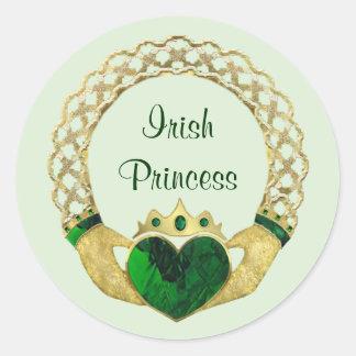 Claddagh Princess Round Sticker