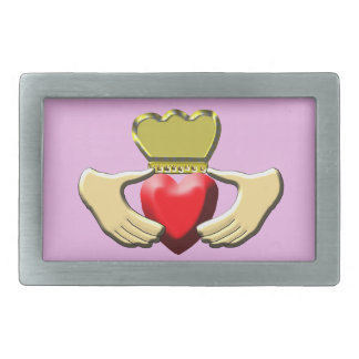 Claddagh Rectangular Belt Buckle