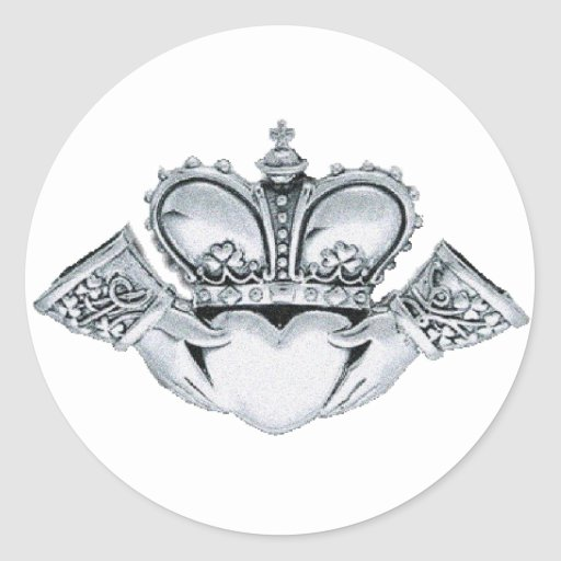 Claddagh Wedding Invitations Envelope Seals Classic Round Sticker