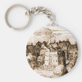 Claes Jansz Visscher Globe Theatre Engraving Keychains
