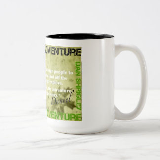 CLAIM YOU ADVENTURE Two-Tone COFFEE MUG