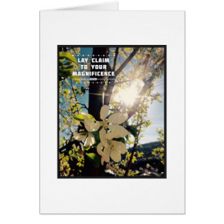 Claim Your Magnificence Note Card - Blank Inside