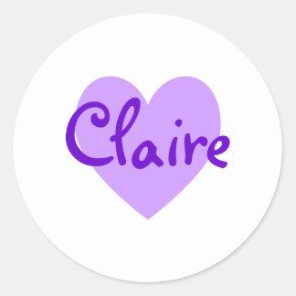 Claire in Purple Classic Round Sticker