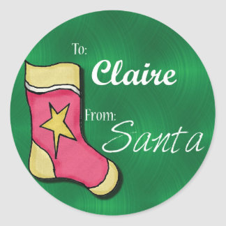 Claire Personalized Stocking Label