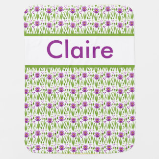 Claire's Personalized Iris Blanket Stroller Blankets