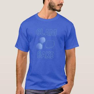 clam bake clambake retro vintage ad sign logo blue T-Shirt