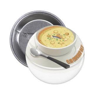 Clam Chowder Day - Appreciation Day 2 Inch Round Button