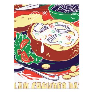 Clam Chowder Day - Appreciation Day Personalized Letterhead