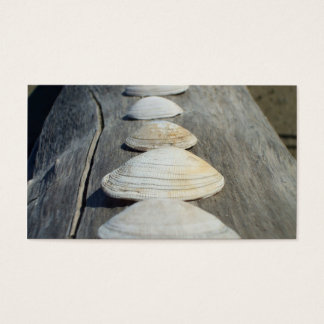 Clam shells business cards