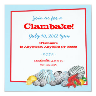Clambake Invitations Announcements