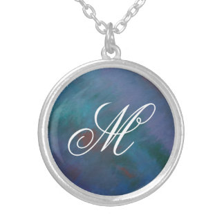 Clamorous Bling | Monogram Blue Green Purple Red Silver Plated Necklace