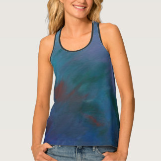 Clamorous Fashion | Ombre Blue Green Purple Red Tank Top