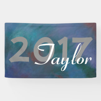 Clamorous Grad | Blue Green Purple Red Keepsake Banner