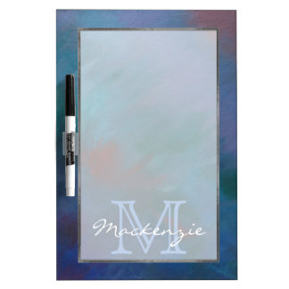 Clamorous Kitchen | Monogram Blue Purple Green Red Dry Erase Board