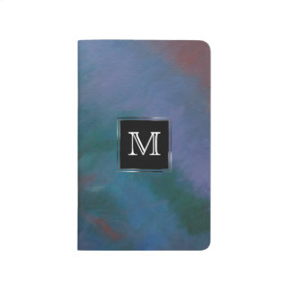 Clamorous Office | Monogram Blue Green Red Ombre Journals