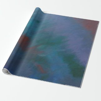 Clamorous Party | Dark Ombre Blue Purple Green Red Wrapping Paper
