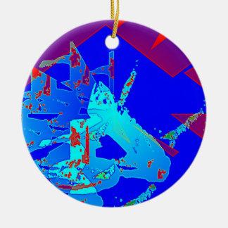 Clamp Brass D Round Ceramic Ornament