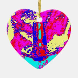Clamp Brass L Ceramic Heart Ornament