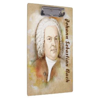 Clamping board with Johann Sebastian Bach Clipboard