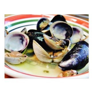 Clams Muscles Shellfish Food Postcard