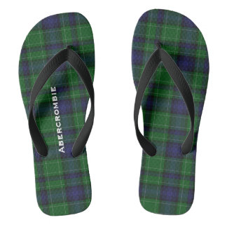 Clan Abercrombie Plaid Personalized Flip Flops