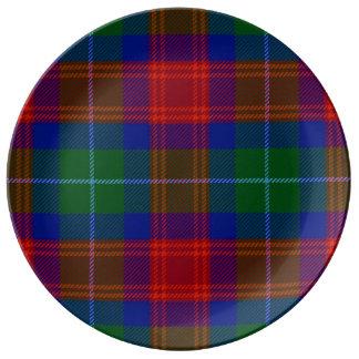 Clan Akins tartan porcelain dinner plate
