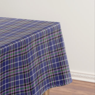 Clan Alexander Tartan Blue and Purple Plaid Tablecloth