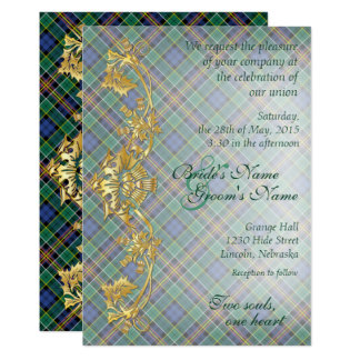 Clan Allison Tartan & Thistles Wedding 2 Card