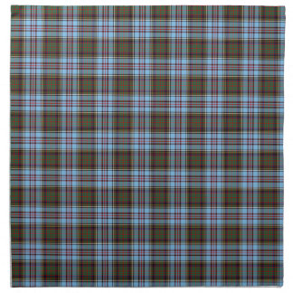 Clan Anderson Light Blue Scottish Tartan Napkin