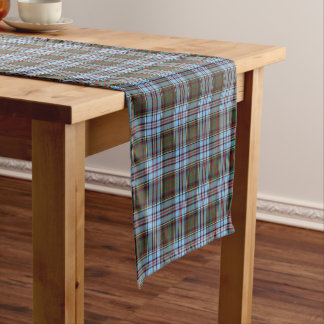Clan Anderson Light Blue Scottish Tartan Short Table Runner
