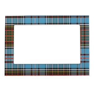 Clan Anderson Plaid Tartan Light Blue Check Magnetic Frame