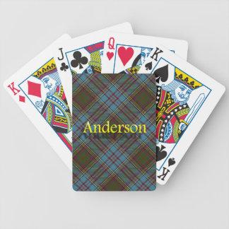 Clan Anderson Scottish Tartan Poker Deck