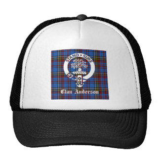 Clan Anderson Tartan Crest Trucker Hat